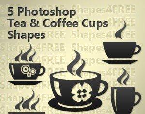 5 Coffee & Tea Vector Shapes Set