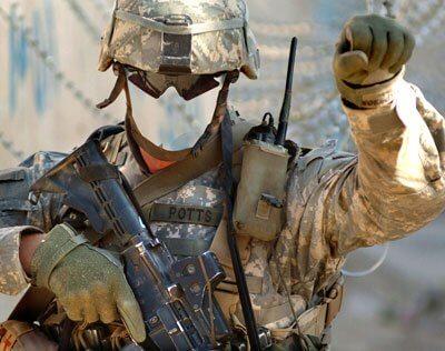 солдат в Ираке
