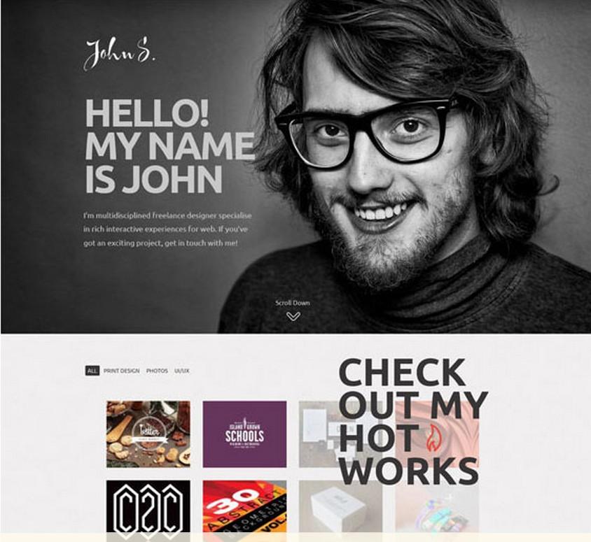 John - шаблон для CMS Joomla