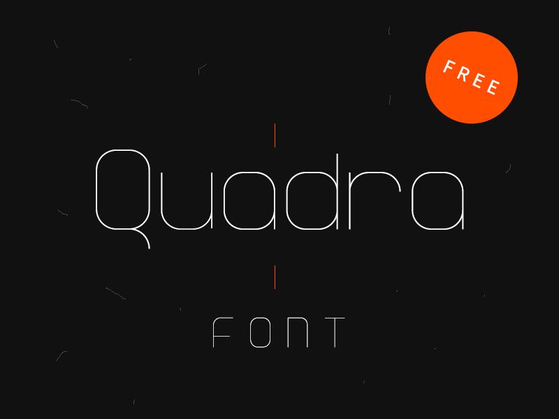 Шрифт Quadra для программы Фотошоп
