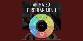 Circular menu
