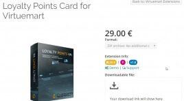 Loyalty Points Card for Virtuemart - программа лояльности для Joomla