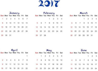 Календарные сетки 2017