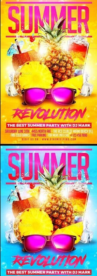 Summer party flyer #1 - летняя вечеринка, флайер