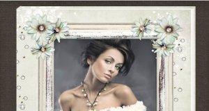 Шаблон винтажной романтической фотокниги