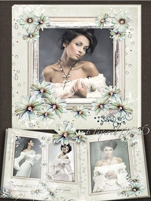 Stylish and beautiful vintage frame for Photoshop