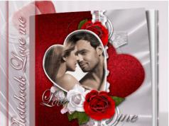 романтический фотоальбом для Фотошоп