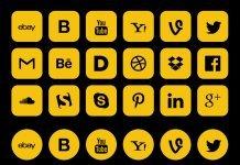 Социальные иконки - квадратные с плавным скруглением