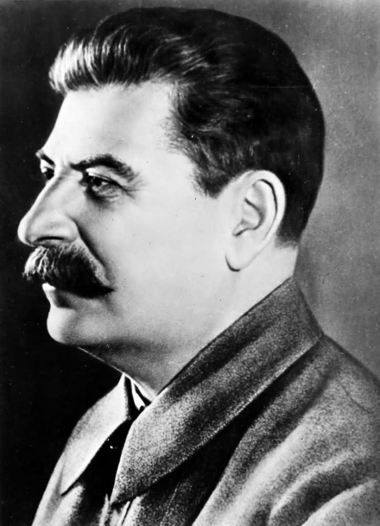 Иосиф Сталин в профиль