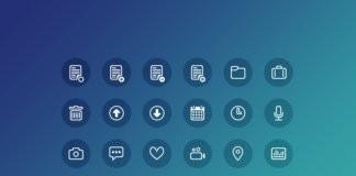 24 иконки в PSD формате для Фотошоп