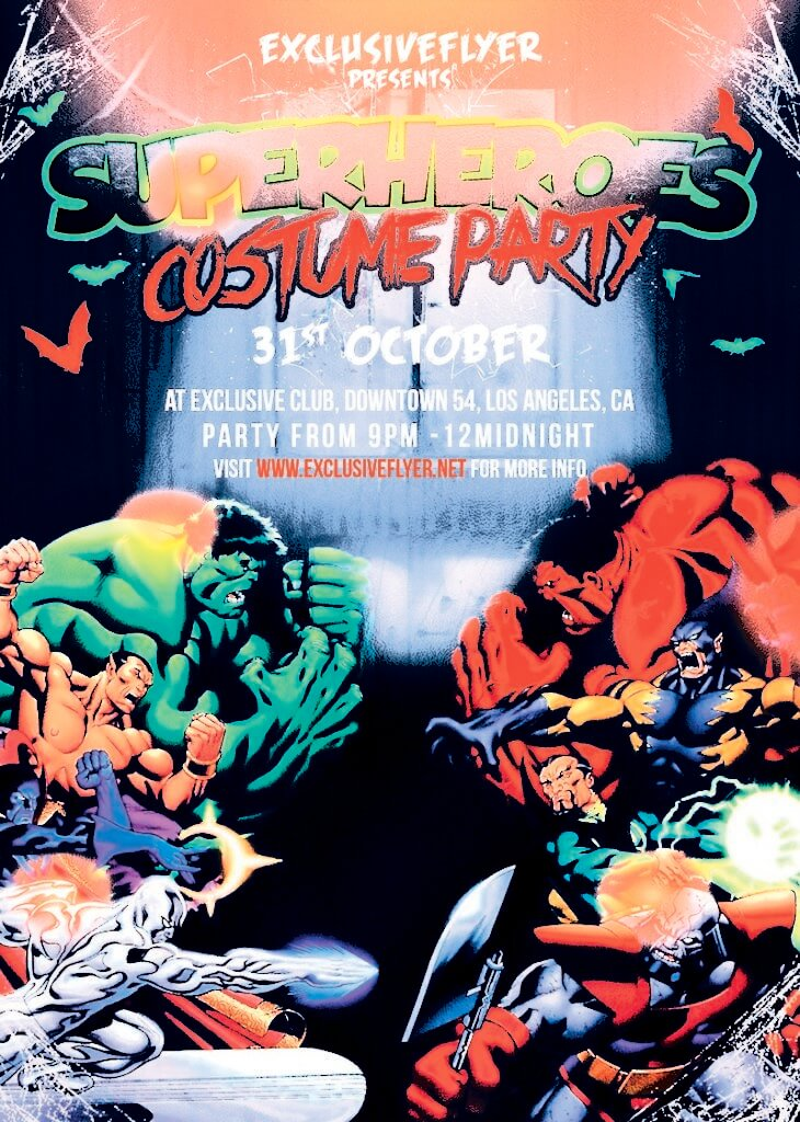 Superheroes Costume Party