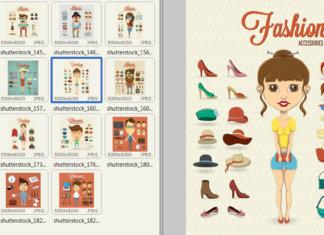 Смешные мужчины и женщины хипстер с элементами одежды, 15 EPS