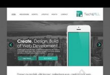 Teal Simple Website Template