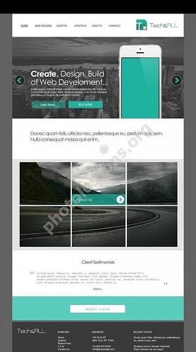 Teal Simple Website Template