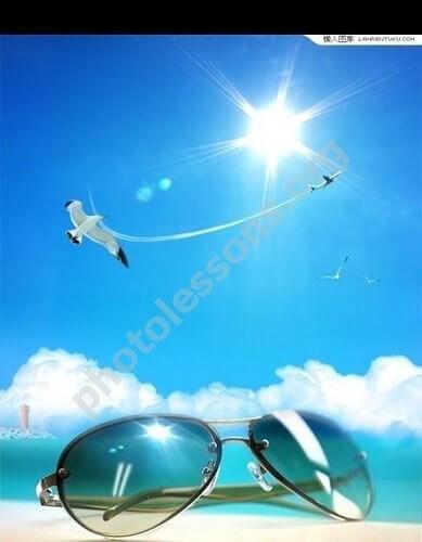 Летний фон для Фотошоп в .PSD