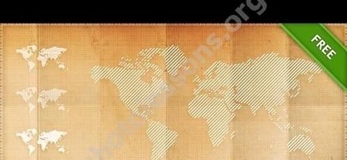 Карта мира в PSD формате