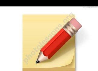 Записка с карандашом