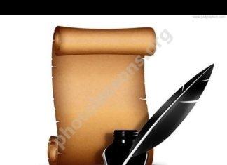 Бумажный свиток с пером
