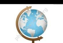 Голубой школьный глобус
