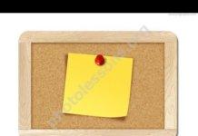 Записка на доске