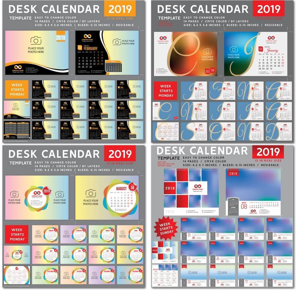 Настольный календарь на 2019 год