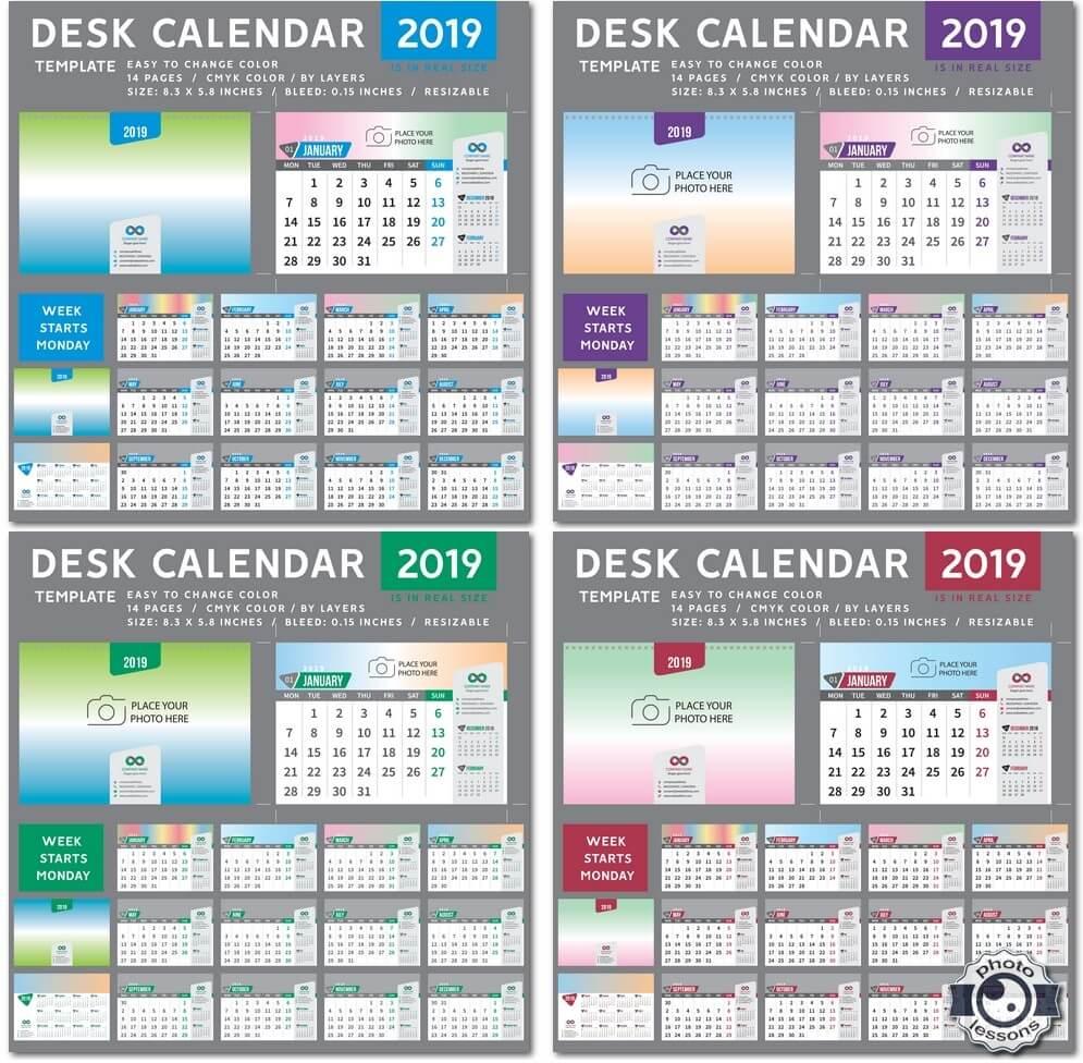 Настольный календарь за 2019 год