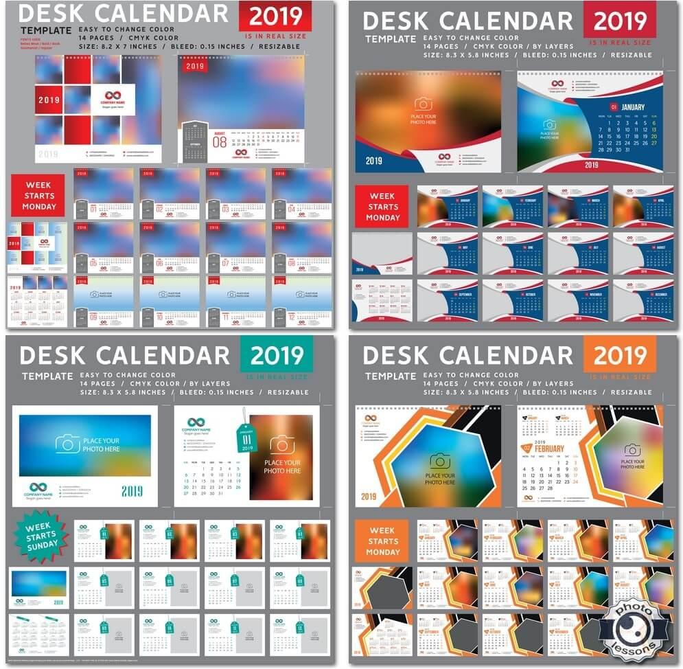 Настольный календарь за 2019 год в векторе # 5