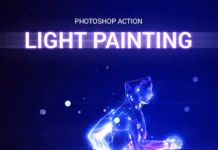 Fast Photoshop Action – flight in motion and in pictures