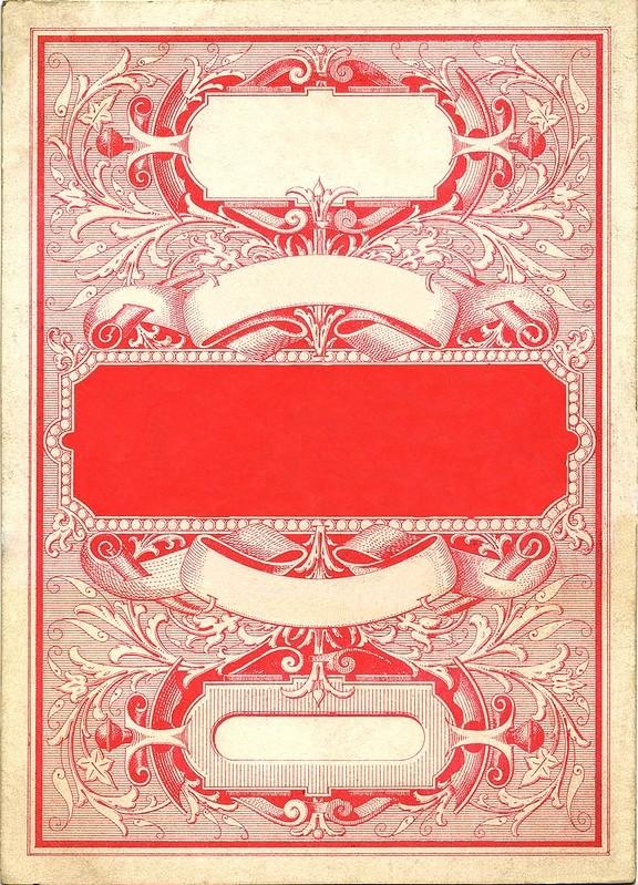 Шаблон винтажной открытки