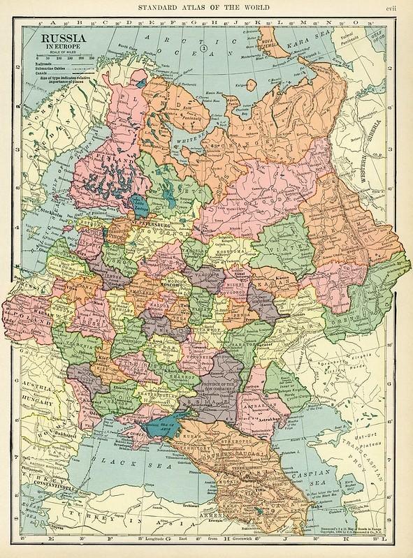Карта европейской части