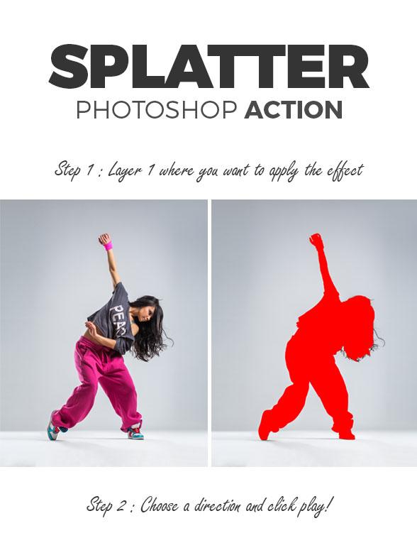 Splatter Photoshop Action
