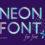 Алфавит неоновый - PSD исходник для Фотошоп