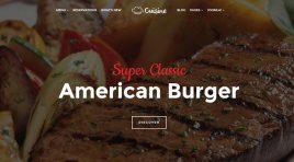 Cuisine - шаблон для ресторана на CMS Joomla
