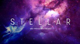 Бесплатный шрифт - Stellar для Adobe Photoshop