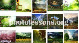Фотографии природы для коллажей в программе Фотошоп