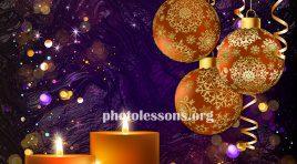 PSD для Photoshop - новогодние и рождественские праздники